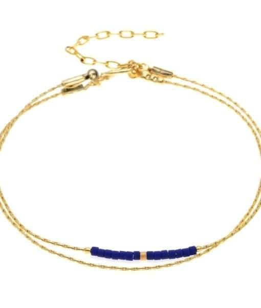 Bracelet fin bleu