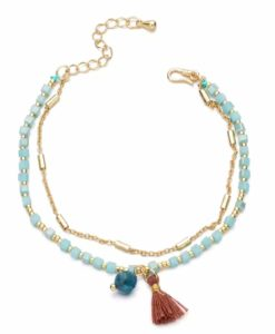 Bracelet perles pompon