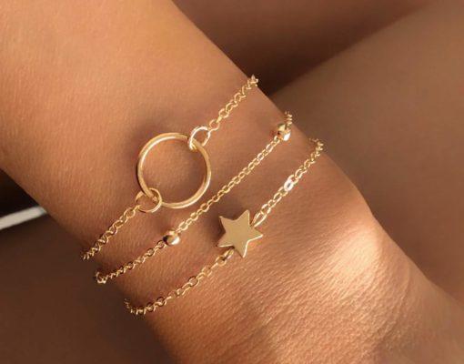 Bracelet multi-rangs dore