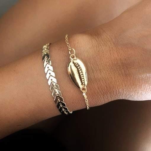 Duo de bracelets dores