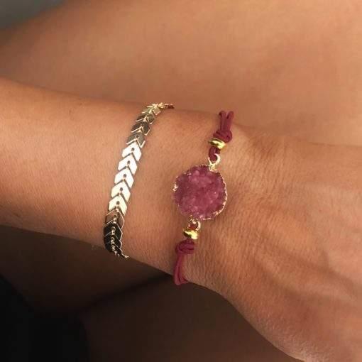 Ensemble de bracelets dores