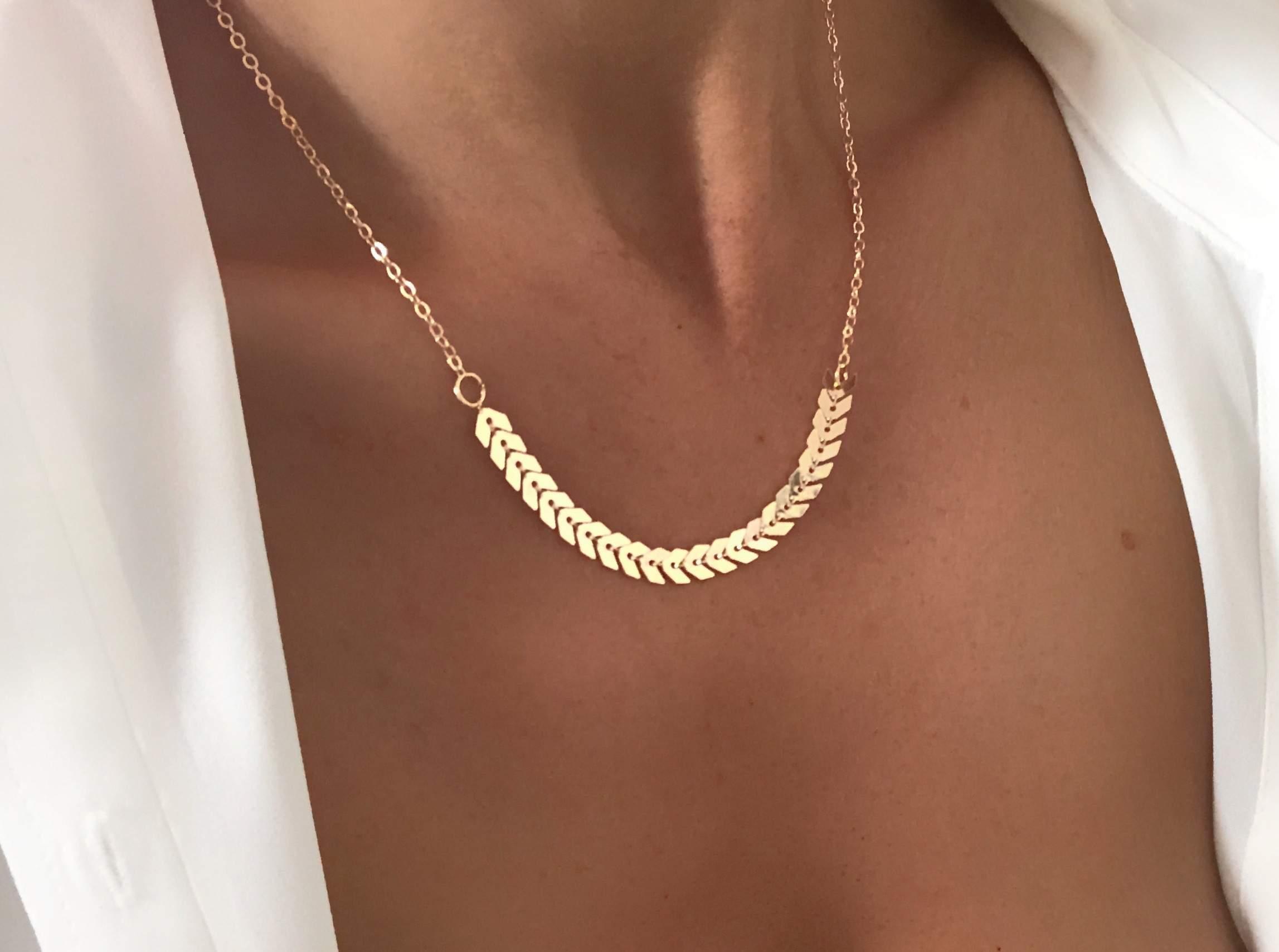 bijoux or collier femme