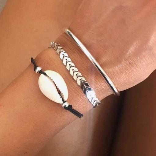 Trio de bracelets fantaisie