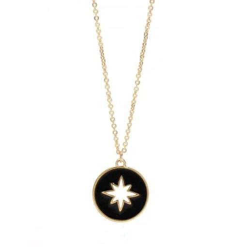 collier pendentif emaille