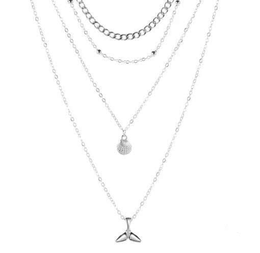 Collier pendentif baleine argent
