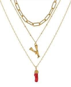 Collier personnalise pendentif rouge
