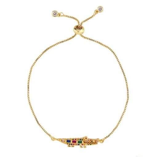 Bracelet cadeau femme- crocodile