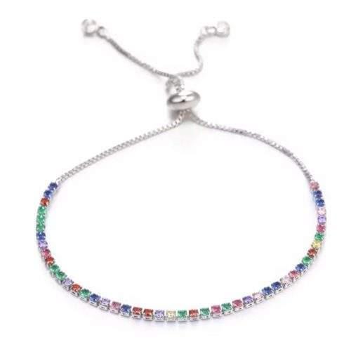 Bracelet cadeau femme- strass argent