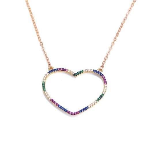 Collier cadeau copine- pendentif coeur