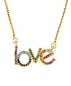 Collier cadeau copine- pendentif love