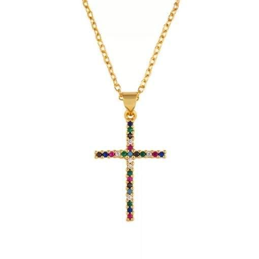 Collier cadeau femme- pendentif croix