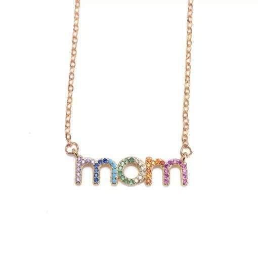 Collier cadeau maman- pendentif lettres