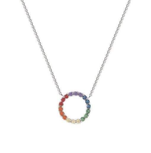 Collier cadeau soeur- pendentif multicolore