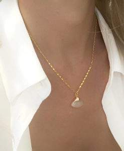 Collier fait-main pierre naturelle