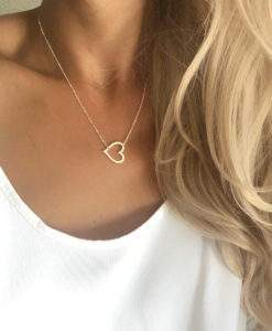 collier acier inoxydable -coeur