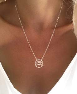 cadeau femme collier coeur medaille argent