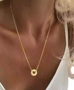 cadeau femme collier coeur or